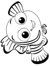Marlin Is Finding Nemo Coloring Page Free Printable - 100×133