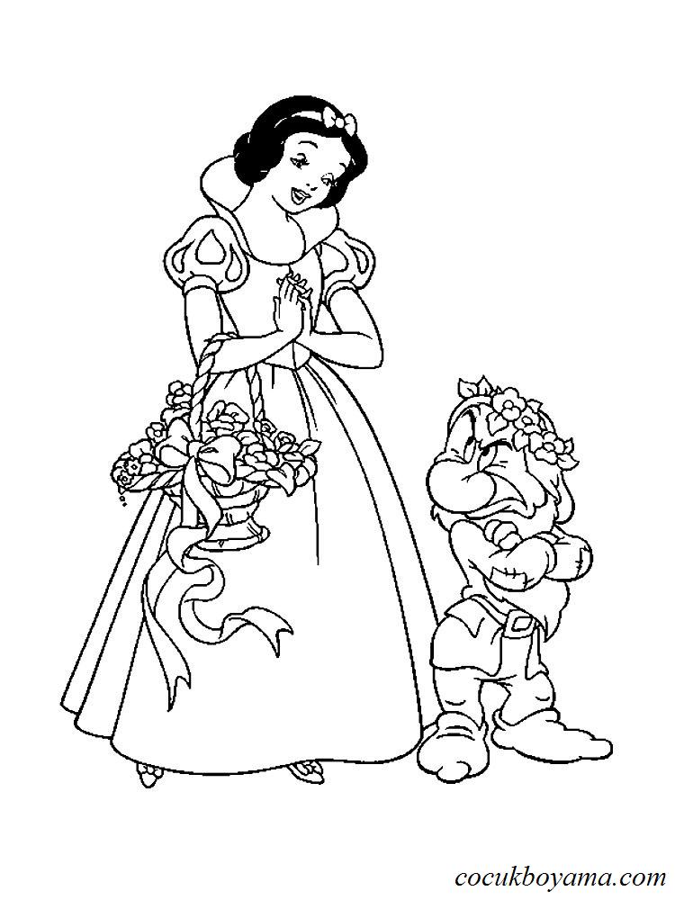 Kleurplaat 70 Pamuk Prenses Ve Yedi Cuceler 20 220 Cretsiz Boyama Resimleri