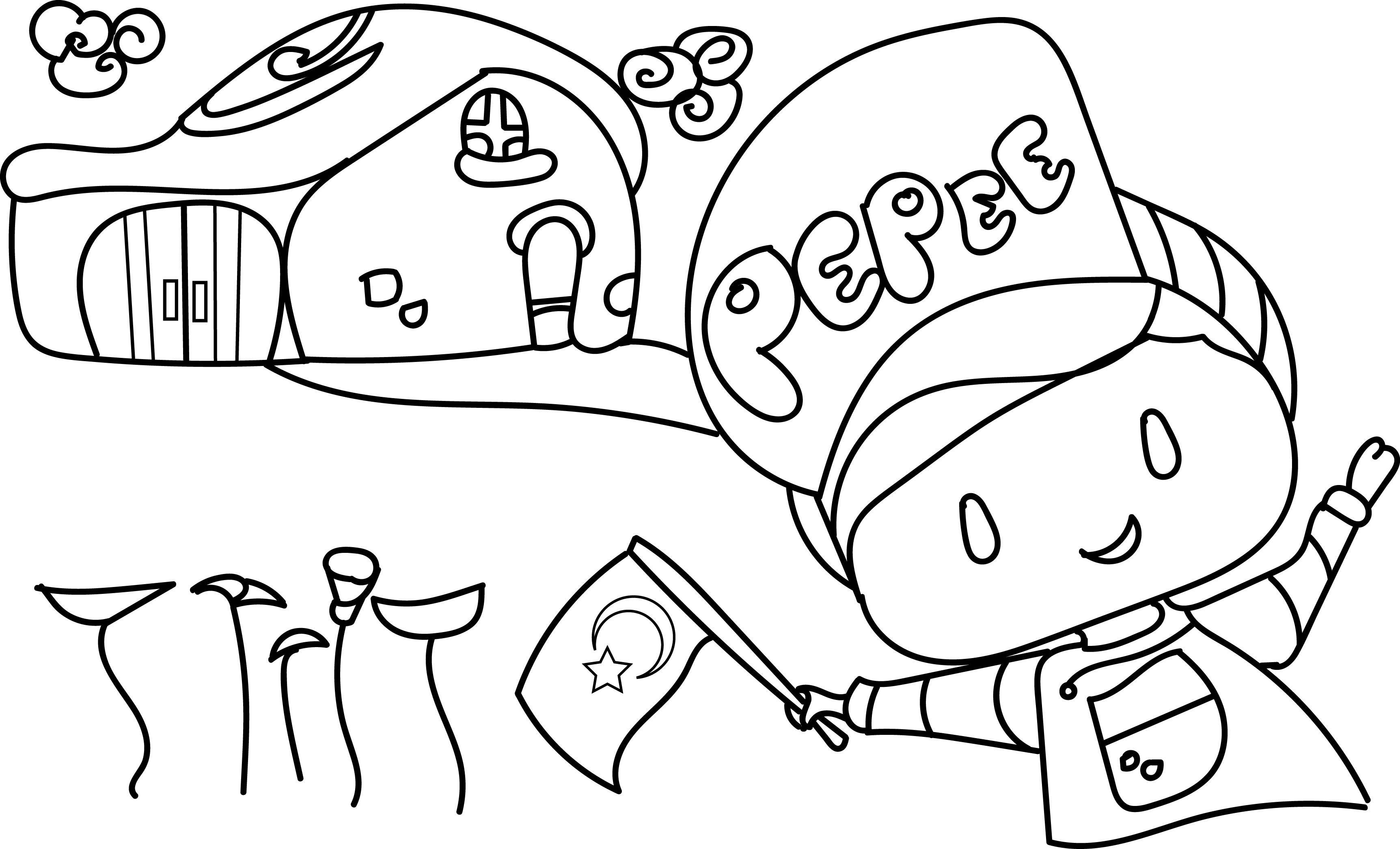 Pepe 3 Ucretsiz Boyama Resimleri