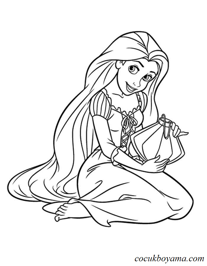 Rapunzel 13 ücretsiz Boyama Resimleri