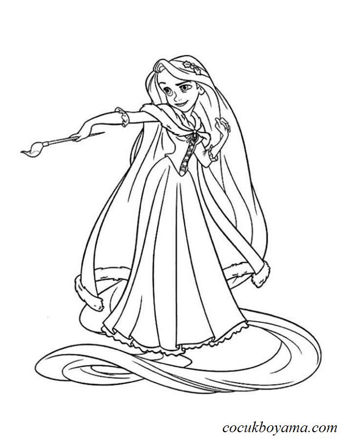 Rapunzel 10 ücretsiz Boyama Resimleri