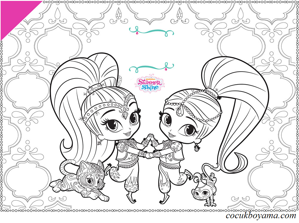 Shimmer and shine 15 cretsiz boyama resimleri for Shimmer and shine da colorare