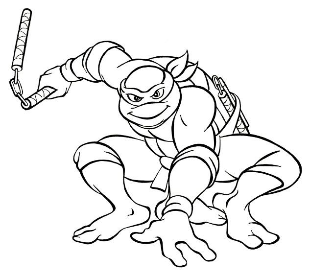 ninja kaplumbağalar 1  Ücretsiz boyama resimleri